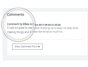 one child comments example