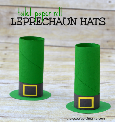 Leprechaun hats made from paper roll